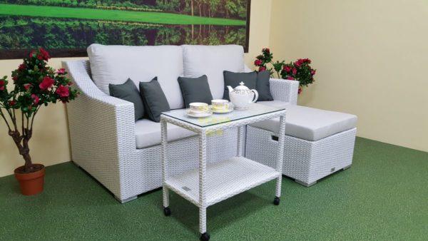 Фото-Плетеная мебель Pegas white patio set