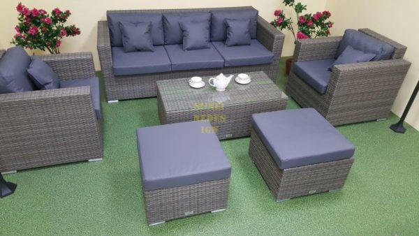 Фото-Садовая мебель из ротанга Allegro natur&grey set 1