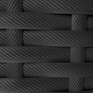 Фото-Искусственный ротанг Flat Pegas anthracite производство мебели из ротанга