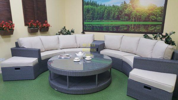 Фото-Круглый диван из искусственного ротанга Meridiana