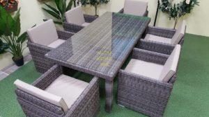 Фото-Мебель из ротанга искусственного Infinity brown grey 6