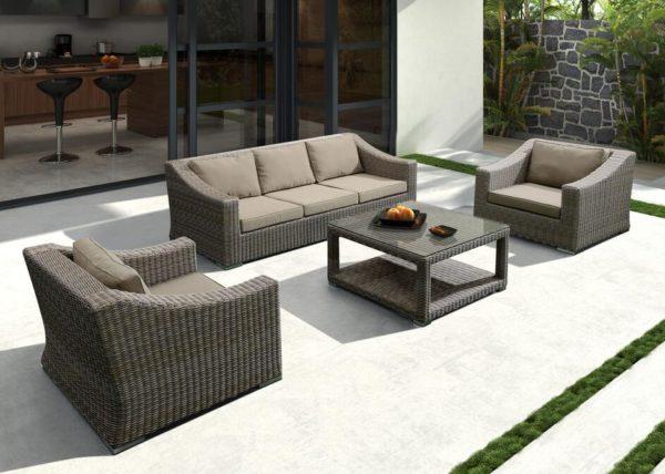 Фото-Плетеная мебель Glendon brown grey