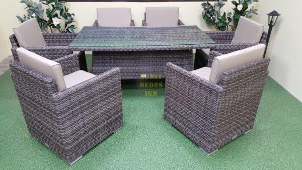 Фото-Плетеная мебель Infinity & Samurai brown grey
