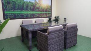 Фото-Плетеная мебель Infinity 160 brown grey 4