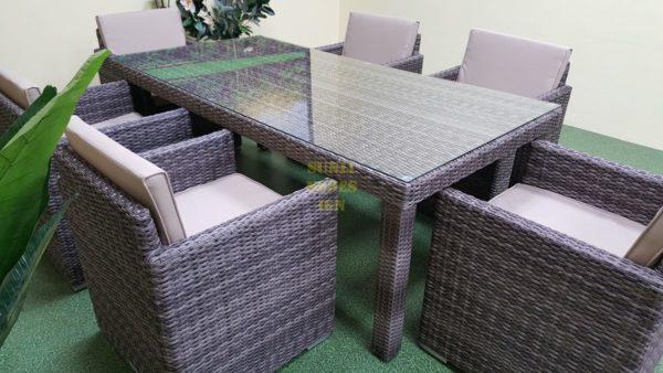 Фото-Плетеная мебель Infinity brown grey 6