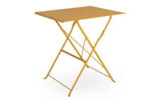 Фото-BRADANO Стол садовый кофейный желтый Brafab