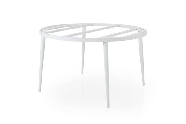 Callander D130 white Стол садовый круглый подстолье