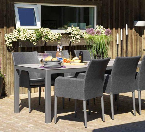 Фото-Callander dining Садовая мебель алюминиевая Brafab