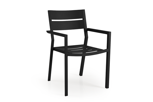 Delia black Кресло садовое Brafab