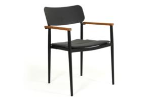 Фото-Domingo black кресло садовое обеденное Brafab