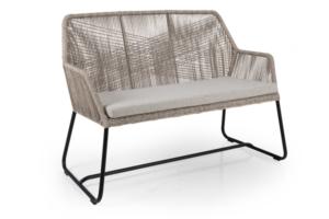 Фото-Midway beige диван из искусственного ротанга Brafab