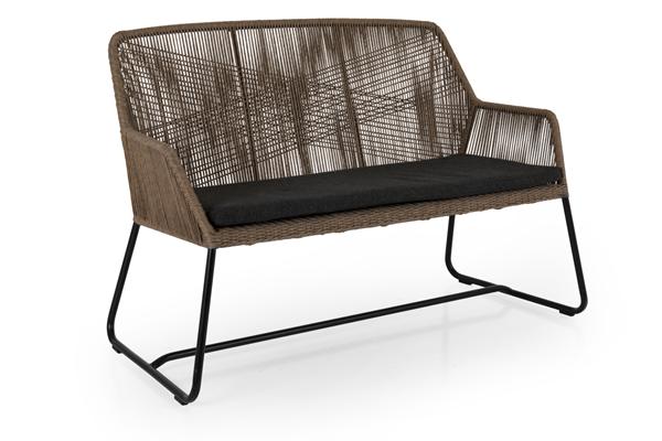 Фото-Midway brown диван из искусственного ротанга Brafab