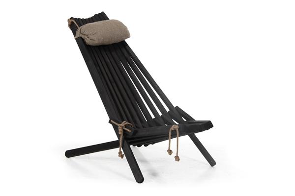 Фото-3001-8 Ribbon black кресло шезлонг