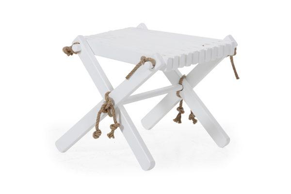 3007-5 Ribbon white табурет-стол садовый