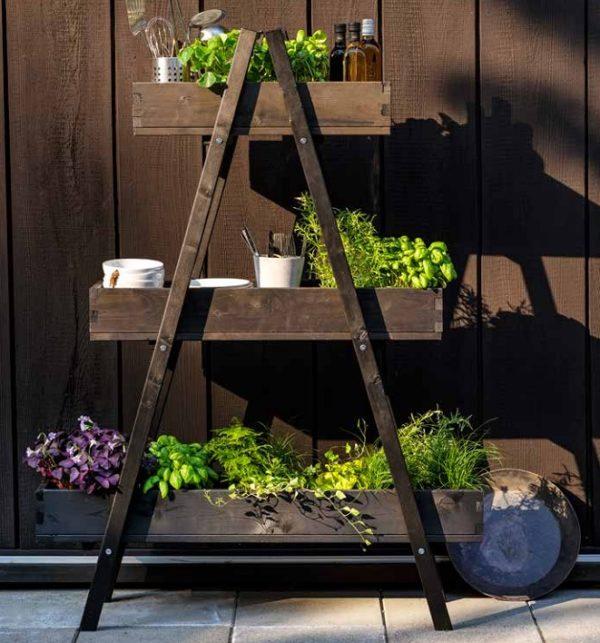 Фото-Boarp Этажерка цветочница садовая
