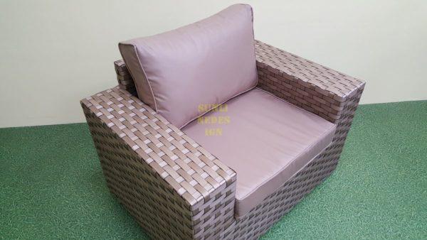Фото-Cinzano beige Кресло плетеное