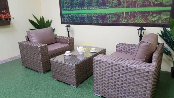 Фото-Cinzano beige cafe set Комплект мебели ротанг