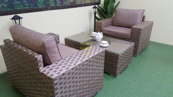 Фото-Cinzano beige cafe set Мебель из искусственного ротанга
