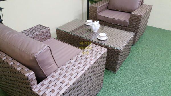 Фото-Мебель из ротанга искусственного Cinzano beige cafe set