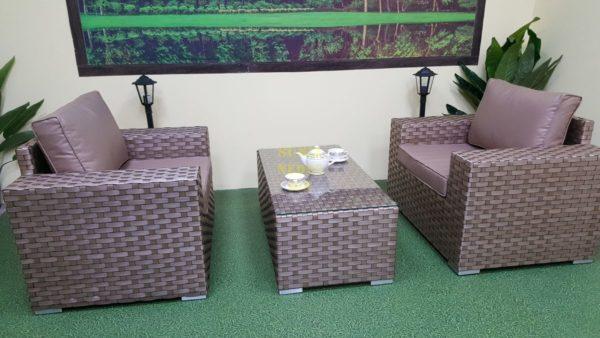Фото-Cinzano beige cafe set Садовая мебель из ротанга