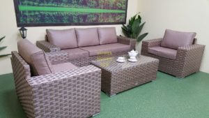 Фото-Комплект из ротанга Cinzano beige фабрика мебели Sunlinedesign