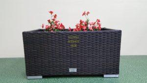 Фото-Кашпо садовое из ротанга Dream royal brown
