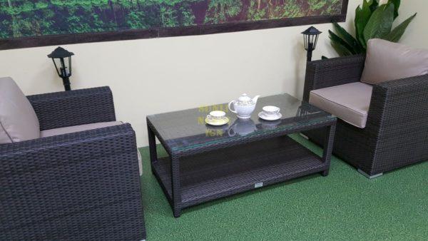 Фото-Комплект плетеной мебели Louisian brown cafe Sunlinedesign