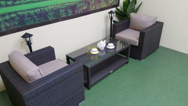 Фото-Мебель из искусственного ротанга Louisiana cafe set brown