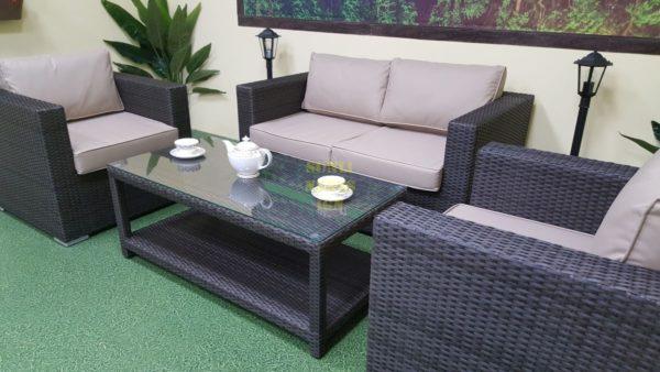 Фото-Louisiana lounge brown Мебель из искусственного ротанга