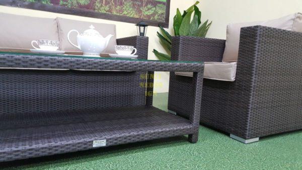 Фото-Sunlinedesign фабрика плетеной мебели комплект Louisiana lounge brown