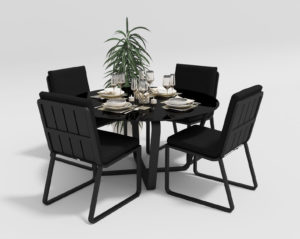 """Фото-Садовая мебель """"Primavera"""" model 1 carbon black"""