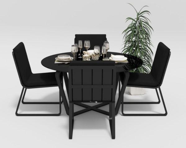 """Фото-Садовая мебель из алюминия """"Primavera"""" model 1 carbon black Gardenini"""