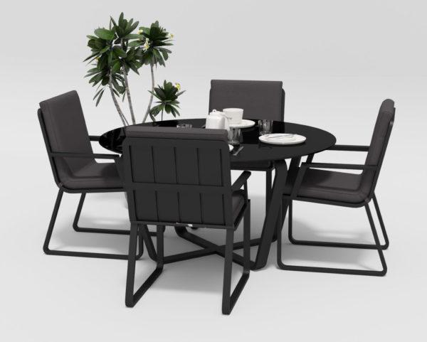 "Фото-Садовая мебель ""Primavera"" model 2 carbon anthracite Gardenini"
