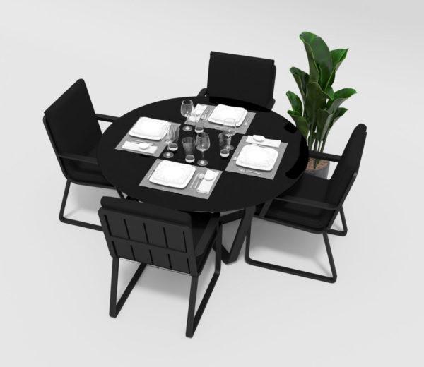 """Фото-Садовая мебель """"Primavera"""" model 2 carbon black Gardenini"""