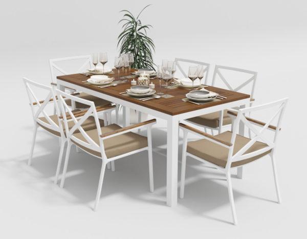 Садовая мебель Bella +Calma 180 beige фото 1
