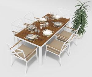 Садовая мебель Bella +Calma 180 beige Gardenini