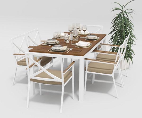 Садовая мебель алюминий Bella +Calma 180 beige фото 3