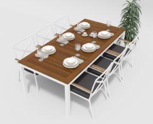 Садовая мебель Bella +Calma 220 anthracite