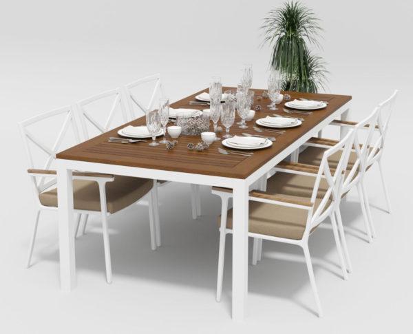 Садовая мебель из алюминия Bella +Calma 220 beige