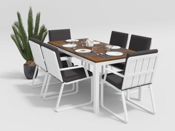 Садовая мебель Bella + Voglie 180 anthracite обеденная группа