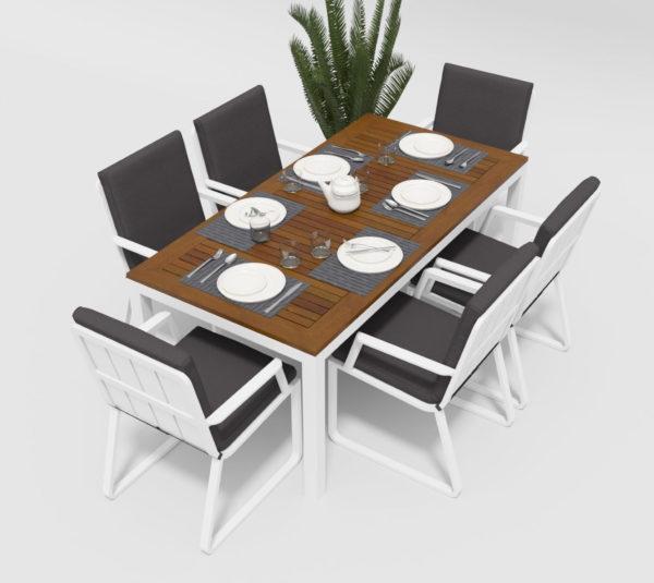 Садовая мебель алюминиевая Bella + Voglie 180 anthracite