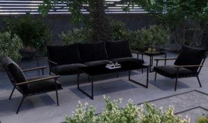 """Садовая мебель из алюминия """"Calma"""" lounge black"""