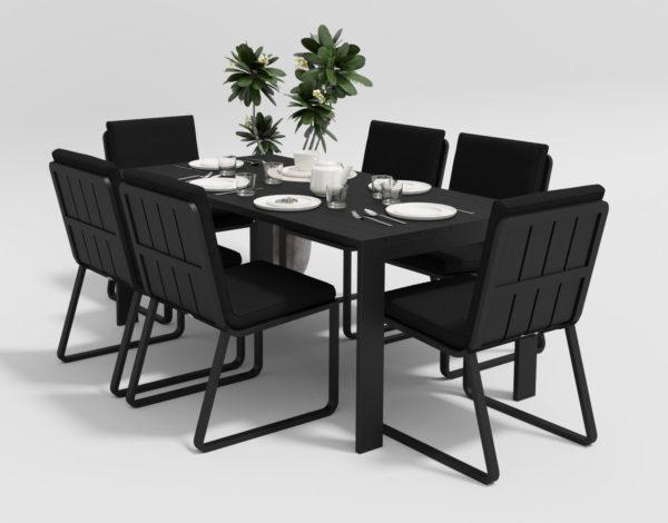 Садовая мебель Malia 180 model 1black Gardenini