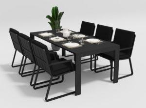Садовая мебель Malia 200 model 2 black