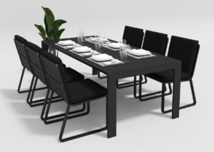 Садовая мебель Malia 220 model 1 black Gardenini