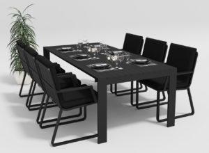 "Садовая мебель ""Malia"" 220 model 2 black Gardenini"