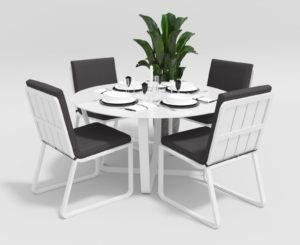 """Фото-Садовая мебель """"Primavera"""" model 1 white anthracite"""