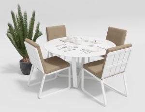 """Фото-Садовая мебель """"Primavera"""" model 1 white beige"""