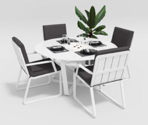 """Фото-Садовая мебель """"Primavera"""" model 2 white anthracite"""