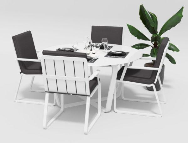 Садовая мебель алюминиевая Primavera model 2 white anthracite фото 3